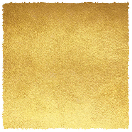Golden square background with uneven, brush drawn edges. Gold texture. Luxurious paper template for your design.