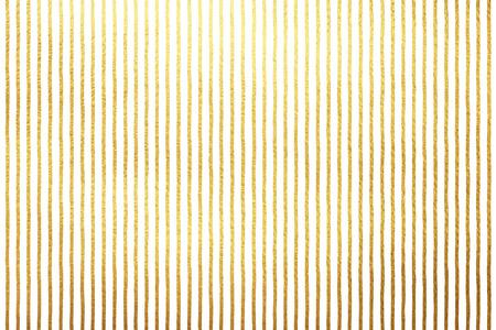 高級白背景に分離された黄金色のストライプ。金箔ラインまたは白の背景上のバー。ストライプ黄色テクスチャー。フリーハンド描画縞パターン。