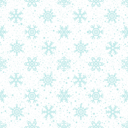 spot the difference: Snow texture and snowflakes seamless pattern. Winter, New Year, Christmas background. Different snow crystal texture with tiny spots, dots, specks, flecks, flakes. Illustration