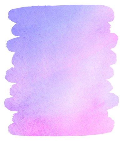 tone: Watercolor brush drawn background with uneven edges. Lilac and pink stains. Light pastel colors. Soft violet, pink. Watercolour template for your design. Colourful texture.