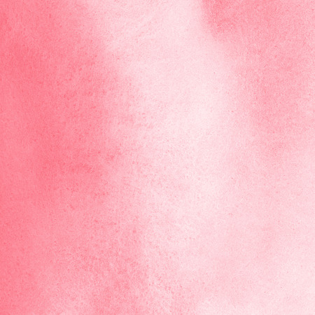 Pink watercolor Valentines day background with stains. Light red watercolour texture. Soft pastel color. Hand drawn abstract aquarelle fill. 免版税图像
