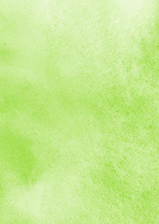 汚れと薄緑色の水彩画の背景。春水彩テクスチャです。柔らかいパステル カラー。手描き抽象 aquarelle 塗りつぶし。エコ、自然、イースターの背景