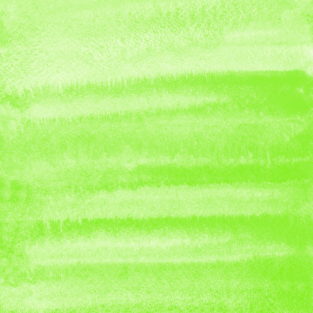 Green watercolor brush drawn square background. Spring, Easter painted template for cards, banners, posters. Striped watercolour gradient fill. Hand drawn texture.