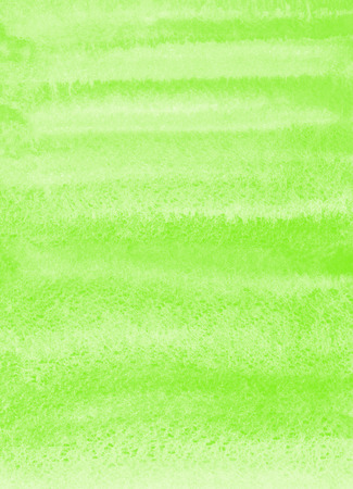 Green watercolor brush drawn background. Spring, Easter painted template for cards, banners, posters. Striped watercolour gradient fill. Hand drawn texture.