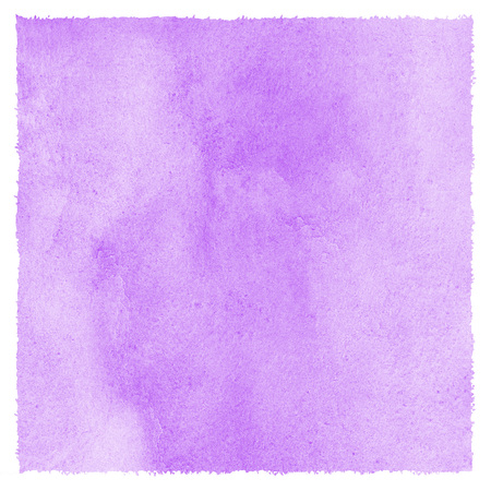Lilac, lavender watercolor stains Easter background with rough uneven edges. Light pastel colors. Soft violet, purple. Watercolour square template for card, poster, banner design. Colourful texture.