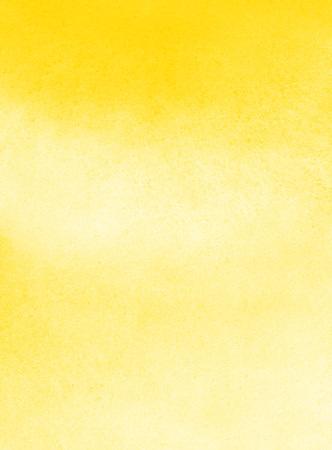汚れと水彩背景が黄色。水彩テクスチャです。手描き抽象 aquarelle 塗りつぶし。カード、バナー、ポスターのテンプレートです。
