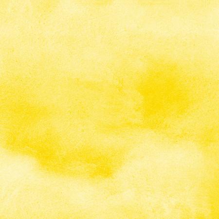 Aquarelle jaune fond carré avec des taches. Texture de l'aquarelle. Remplissage d'aquarelle abstraite tiré à la main. Modèle pour cartes, bannières, affiches. Banque d'images - 74355172
