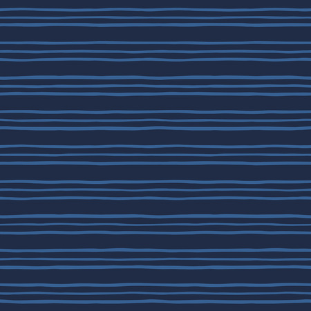 pinstripes: Pinstripes seamless vector pattern. Thin hand drawn uneven endless stripes, streaks vector background. Striped abstract marine, sea template. Free hand drawn bars texture. Dark blue, navy color.