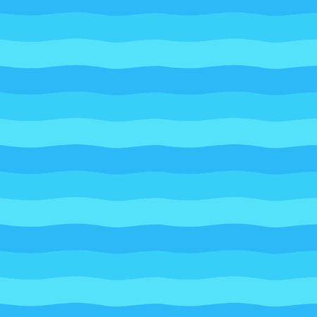 Shades of blue seamless vector gradient waves. Wide wavy stripes, streaks, bars texture.
