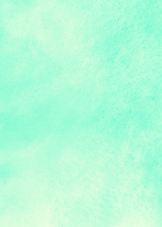 Watercolor gradient abstract background with stains. Mint green and yellow painted template. Summer, holiday backdrop. Hand drawn watercolour texture.