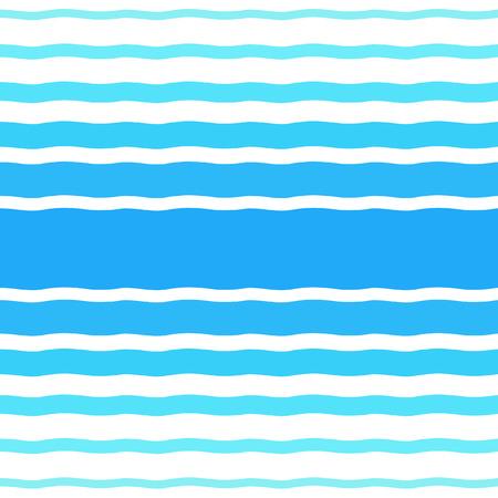 異なる幅の波とシームレスなベクトル パターン。水、海、海、川、プール、夏背景。グラデーション ブルー ウェーブ ストライプ、縞、バー、テク  イラスト・ベクター素材