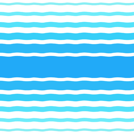 width: Seamless vector pattern with waves of different width. Water, sea, ocean, river, swimming pool, summer background. Gradient blue wavy stripes, streaks, bars texture. Striped abstract template.