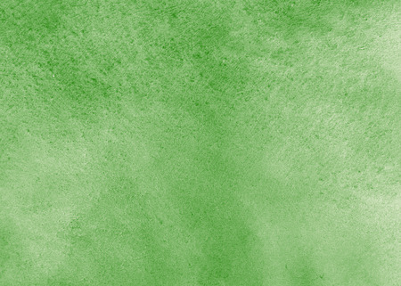 Forest, pine, basil green watercolor background with stains. Hand drawn dark green watercolor summer texture. Nature, eco aquarelle template for cards, banners, posters. Stock Photo