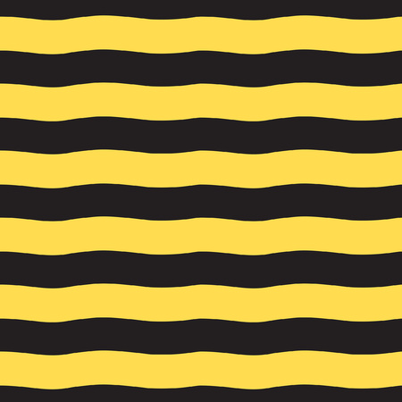 Black and yellow wide wavy stripes pattern.