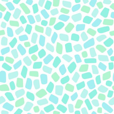 Mint green mosaic pattern.