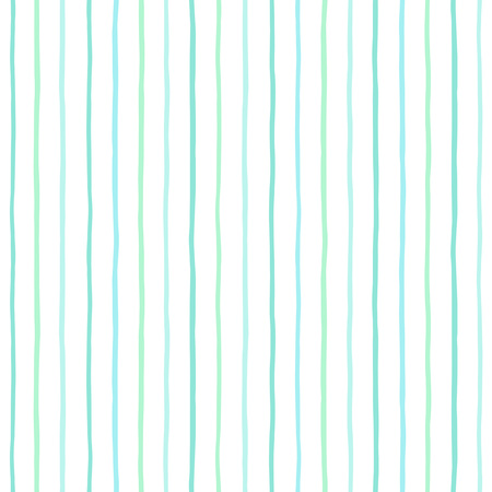 Mint green stripes, pinstripes vector seamless pattern. Striped background. Thin uneven lines on white backdrop. Free hand drawn bars. Doodle style streaks pattern.