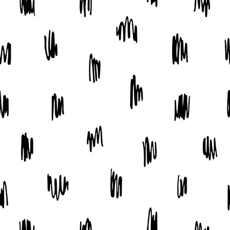 Doodle style scrawl, scratch, scribble seamless vector pattern