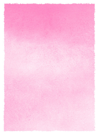 Valentines day background with pink gradient watercolor stains and uneven art edges. Hand drawn abstract aquarelle fill. Rectangle shape. Light rose watercolor Women Day texture. Pastel color.