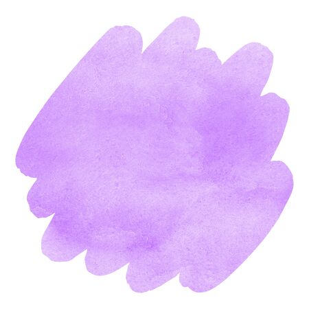 Lilac, violet watercolor Easter background with uneven edges. Brush stroke shape. Light pastel watercolour stains. Aquarelle template for your design. Colorful texture. Stock Photo