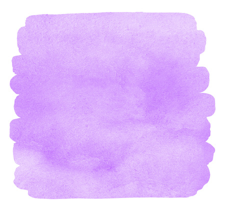 Lilac, violet watercolor Easter background with uneven edges. Square brush stroke shape. Light pastel watercolour stains. Aquarelle template for your design. Colorful texture.