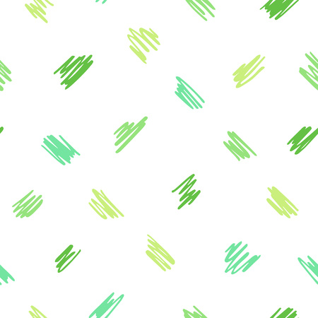 Spring abstract vector background. Free hand drawn diagonal scrawl, scratch, scribble seamless vector pattern. Cute, tiny uneven zigzag brush strokes texture. Doodle style spots, specks, flecks.