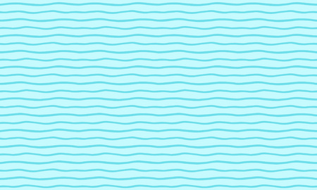 Sea waves summer, holiday abstract background. Wavy thin stripes, pinstripes, streaks, bars seamless vector repeat pattern. Long, elongated, horizontal shape. Marine, maritime, naval striped template. Illustration