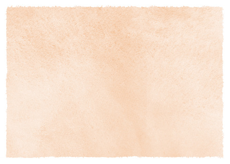 Natural, rose beige watercolor background with stains and rough, uneven edges. Human skin, foundation color painted watercolor texture. Pastel, soft brown aquarelle template for banners, posters.