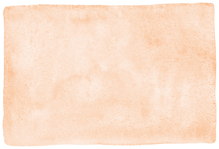 Rose beige, natural watercolor texture with stains and rounded, uneven edges. Pastel, light brown aquarelle template for banners, posters. Human skin, foundation color painted watercolor background. 版權商用圖片
