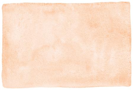 Rose beige, texture aquarelle naturelle avec des taches et des bords arrondis et inégaux. Modèle aquarelle pastel, marron clair pour bannières, affiches. Peau humaine, fond d'aquarelle peint par couleur de fondation.