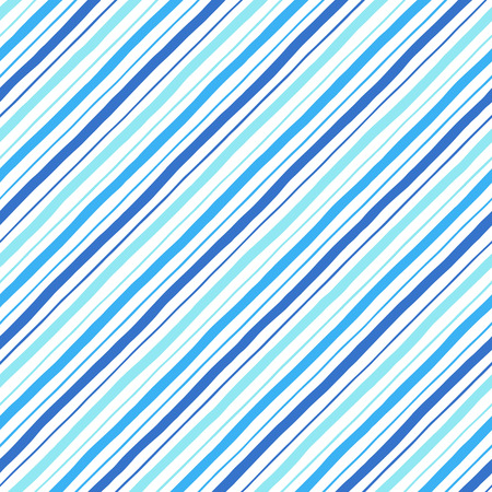 Diagonal parallel hand drawn uneven stripes, streaks of different width. Tilted doodle style lines, inclined pinstripes, bars template. Striped navy blue texture. Иллюстрация