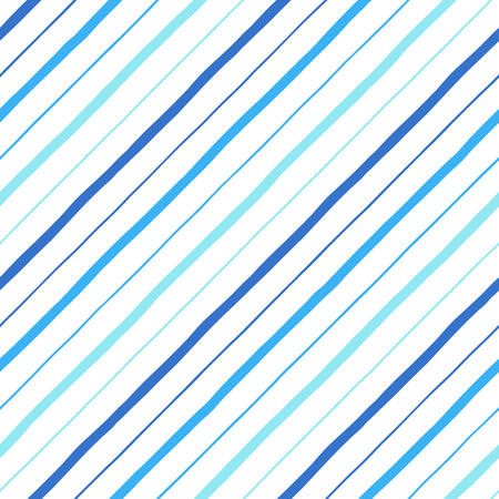 Diagonal parallel hand drawn uneven stripes, streaks of different width. Tilted doodle style lines, inclined pinstripes, bars template. Striped navy blue texture. Illustration