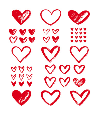 Set Outlines For Valentines Day Card Poster Banner Different