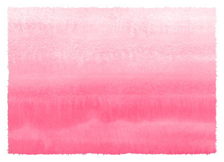 Valentine, Woman Day painted watercolour texture with rough contour, edge. Pink, rose watercolor hand drawn fill. Gradient striped aquarelle stains background. Painting template for greetings, banners Foto de archivo - 113027065