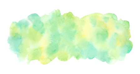 Spring, summer, eco, nature, Easter Long, elongated, rounded rectangle shape. Light colors. Hand drawn abstract blotchy aquarelle fill. Foto de archivo - 116210510