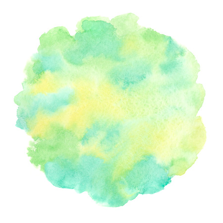 Spring, summer, eco, nature, Easter Rounded, uneven circle shape. Soft pastel colors. Hand drawn abstract watercolor fill. Foto de archivo - 116210513
