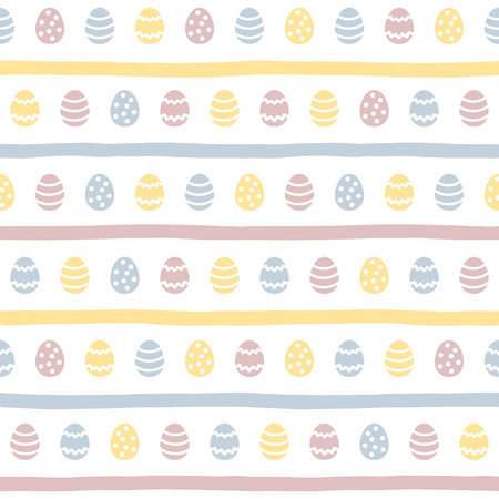 Happy Easter seamless pattern. Futuristic pattern for horizontal borders, frames, greetings. Foto de archivo - 116210523