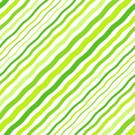 Grass green diagonal waves, waves seamless repeat eco, vegan background. Oblique hand drawn crooked lines, inclined, tilted streaks, strips, bars pattern. Striped texture. Foto de archivo - 124355901