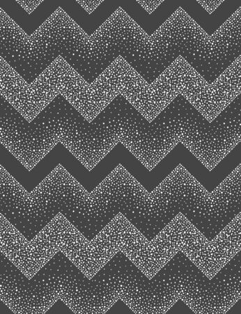 Geometric winter seamless repeat vector pattern. Zigzag, chevron ornamentation, made of round snow flakes, uneven hand drawn dots, sparks, blobs, snowflakes, pearls, beads. New year border template.