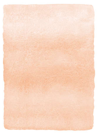 Light brown, rose beige watercolor vertical gradient background with parallel striped stains and brush edges. Human skin, foundation color painted watercolour texture. Aquarelle rectangle template. Imagens