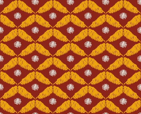 Seamless vector pattern in oriental style for textile design, graphic design or web design  Vector