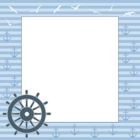 buoyant: Vector marine frame with space for text or photo