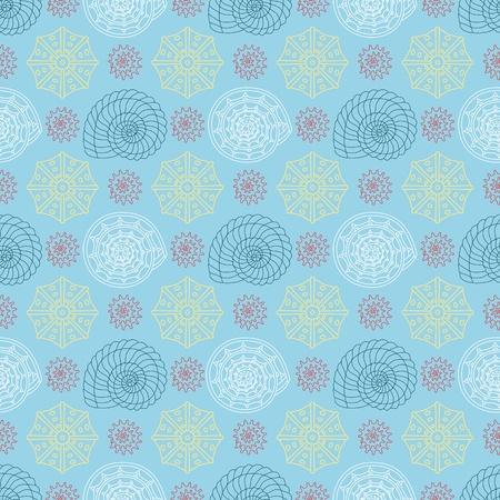 conchas: Patr�n de vectores sin fisuras con las conchas de colores se puede utilizar para el dise�o gr�fico, dise�o textil o dise�o de p�ginas web