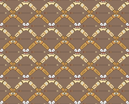 boomerangs: Seamless vector pattern with boomerangs and arrows can be used for graphic design, textile design or web design  Illustration