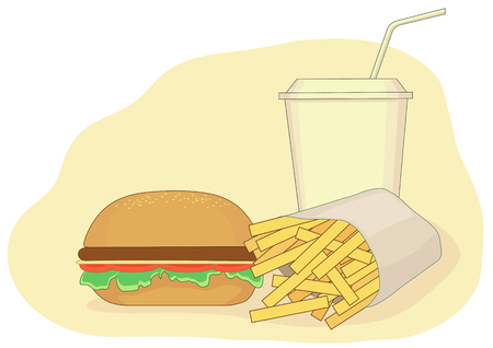 Vector illustration of fastfood can be used for graphic design or web design.