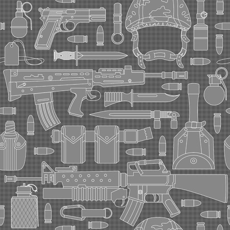 browning: Seamless military pattern pattern can be used for graphic design, textile design or web design. Illustration