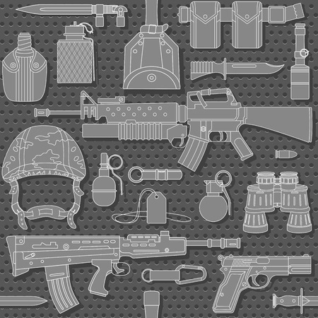 browning: Seamless military pattern can be used for graphic design, textile design or web design. Illustration