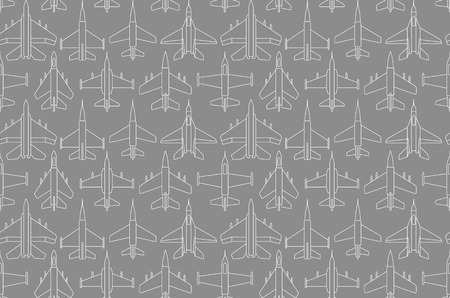 Seamless pattern with military airplanes number one can be used for graphic design, textile design or web design.
