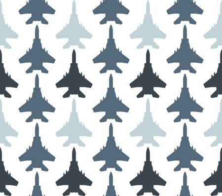 Seamless pattern with jet fighters. Can be used for graphic design, textile design or web design. Illustration