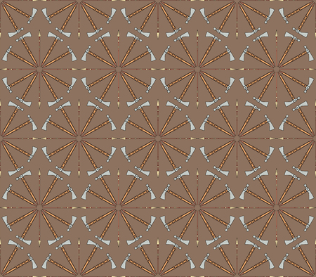 Seamless vector pattern with tomahawks and spears can be used for graphic design, textile design or web design.
