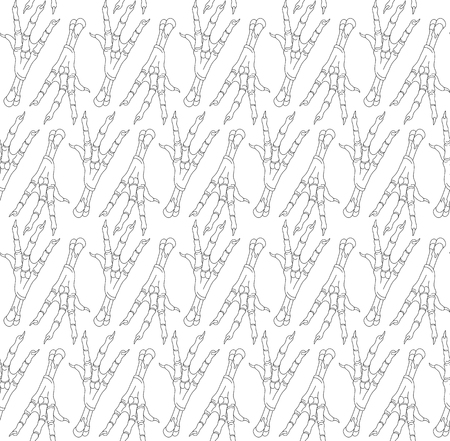 Seamless pattern with legs of chickens. Can be used for graphic design, textile design or web design.